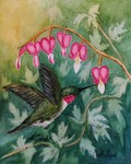 Hummer and Bleeding Hearts